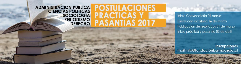 CONVOCATORIA PRACTICANTES/PASANTES ABRIL 2017