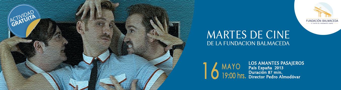 Martes de cine: LOS AMANTES PASAJEROS | 16 de mayo | 19:00 hrs.