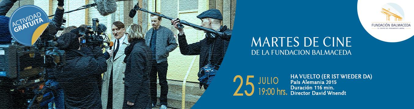 """Martes de Cine. 25 de Julio. 19.00 hrs. """"HA VUELTO""""  er ist wieder da"""