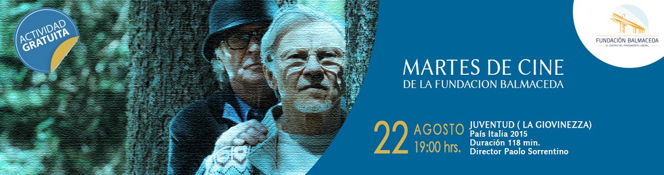 """Martes de Cine. 22 de agosto. 19.00 hrs. """"Juventud"""""""