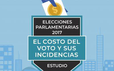 ESTUDIO: Elecciones Parlamentarias 2017: El costo del voto y sus incidencias