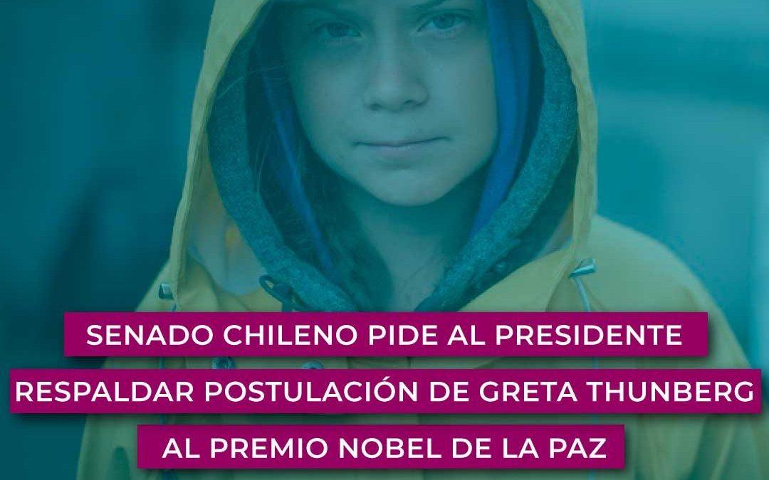 Senado chileno pide al presidente respaldar postulación de Greta Thunberg al Premio Nobel de la Paz
